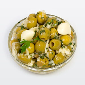 Garlic-Spice Olives